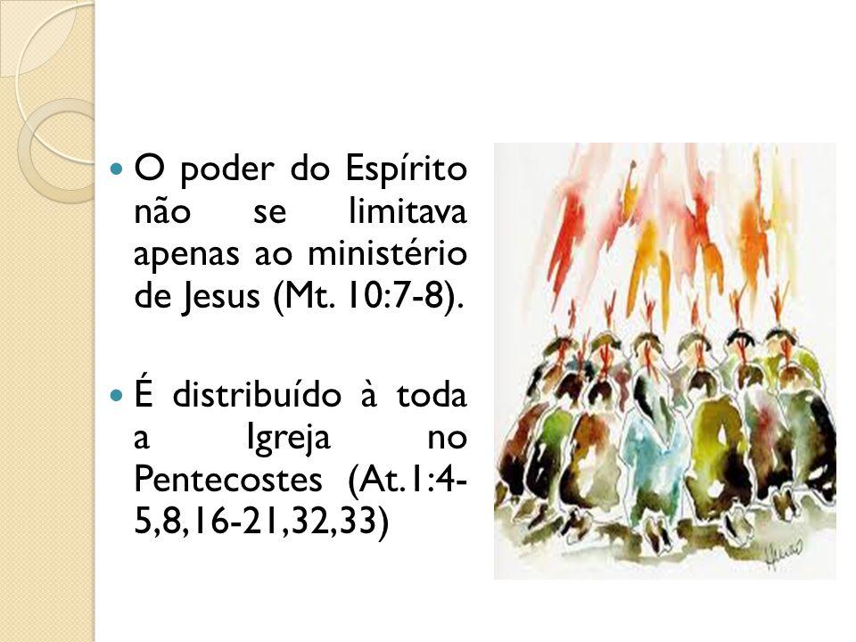O poder do Espírito não se limitava apenas ao ministério de Jesus (Mt