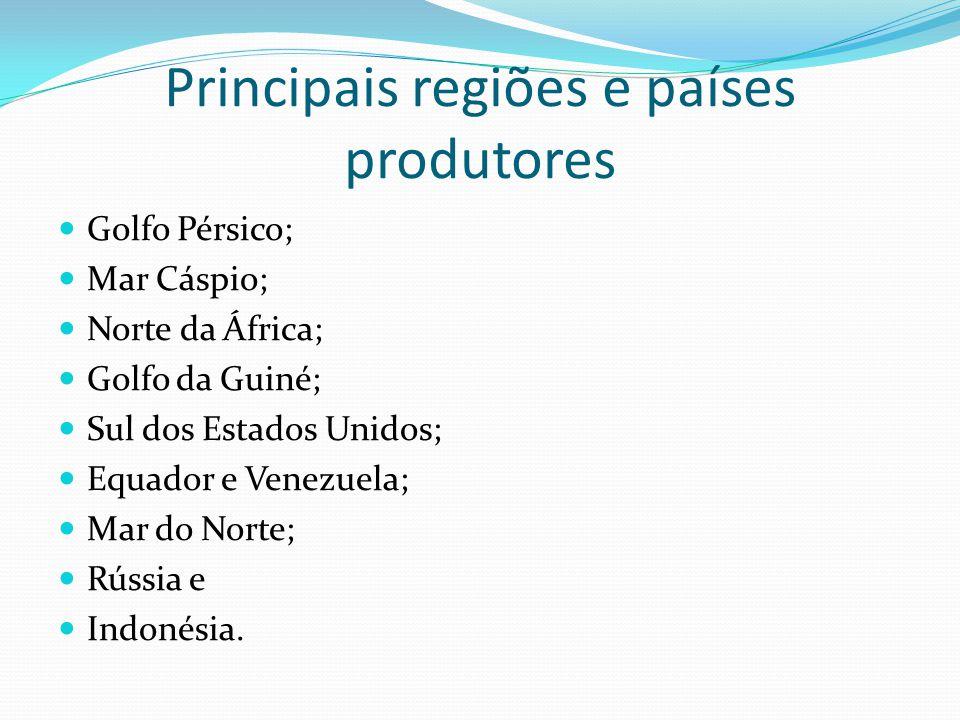 Principais regiões e países produtores