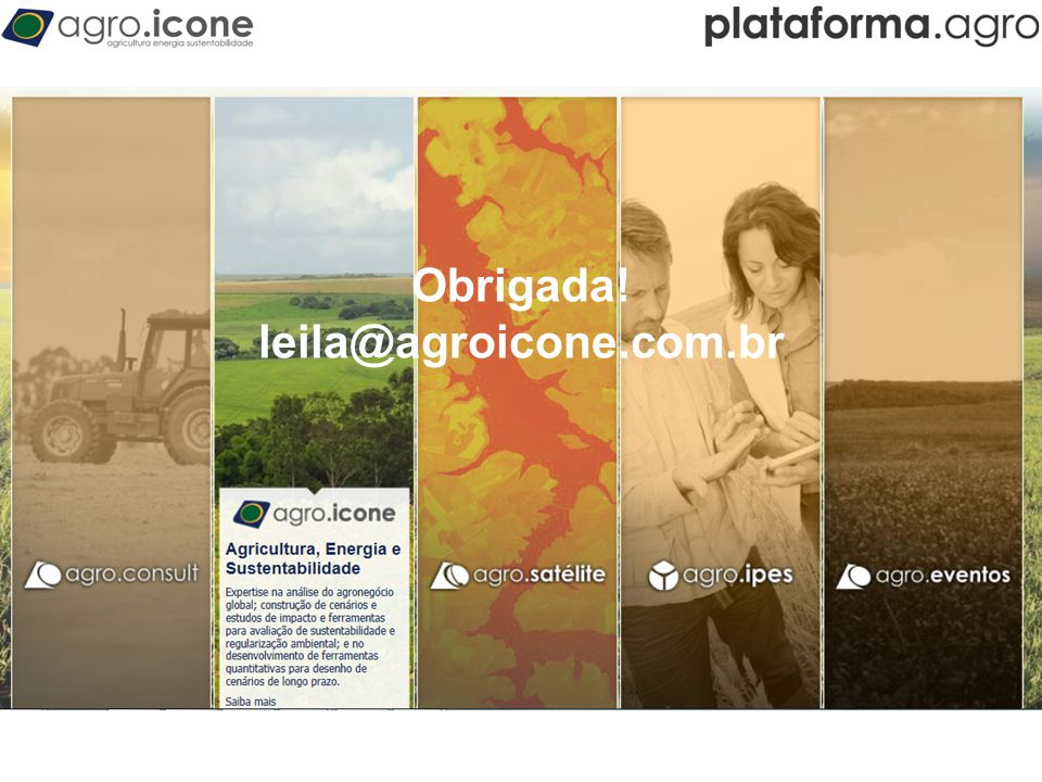 Obrigada! leila@agroicone.com.br