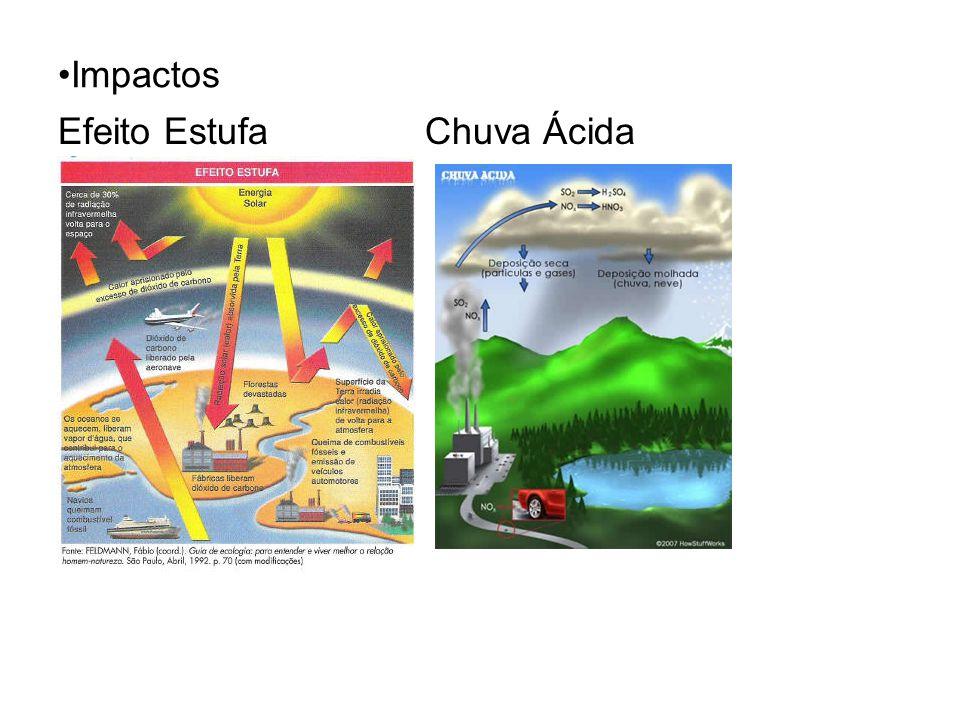 Impactos Efeito Estufa Chuva Ácida