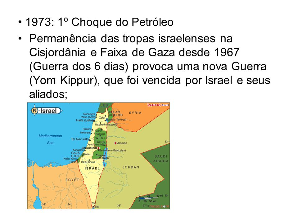 1973: 1º Choque do Petróleo