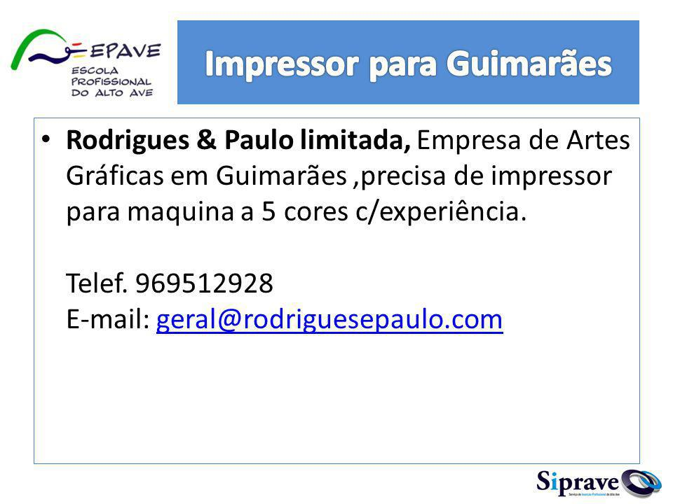 Impressor para Guimarães
