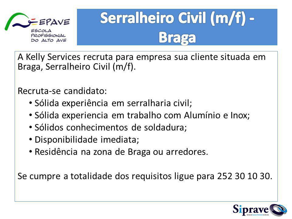 Serralheiro Civil (m/f) - Braga