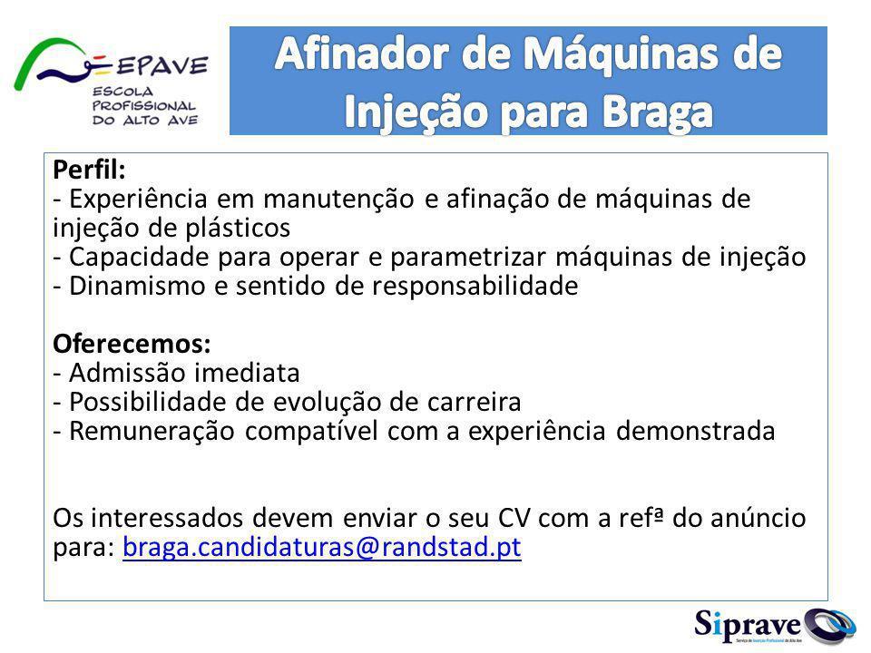 Afinador de Máquinas de Injeção para Braga