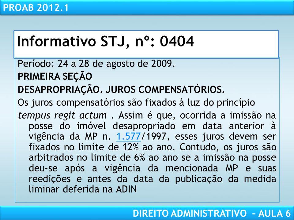 Informativo STJ, nº: 0404