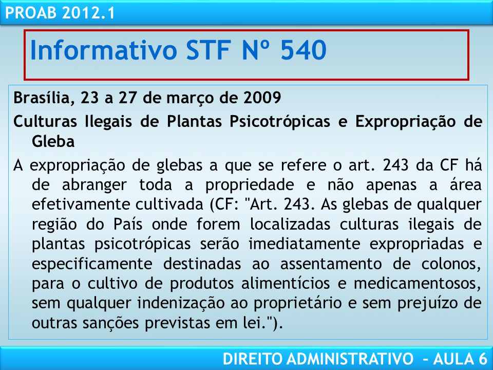 Informativo STF Nº 540
