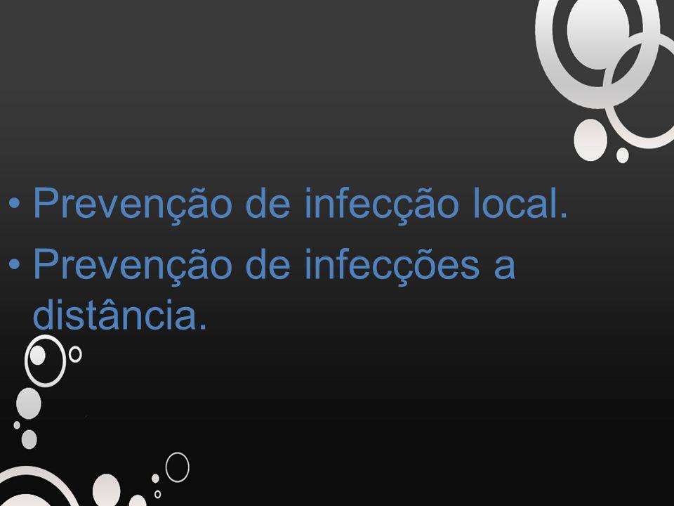 Prevenção de infecção local.
