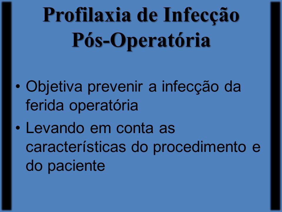 Profilaxia de Infecção Pós-Operatória