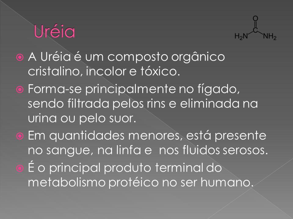 Uréia A Uréia é um composto orgânico cristalino, incolor e tóxico.