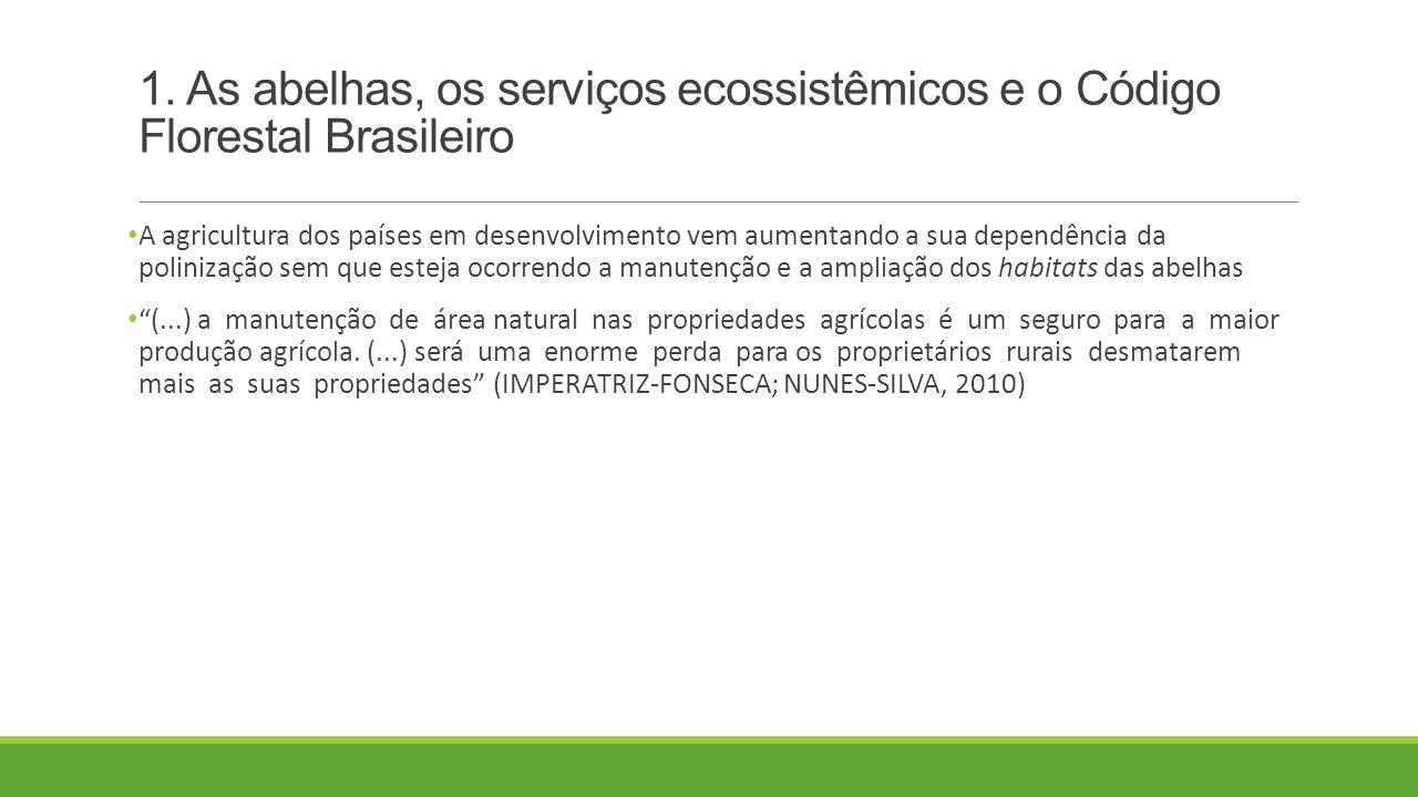 1. As abelhas, os serviços ecossistêmicos e o Código Florestal Brasileiro
