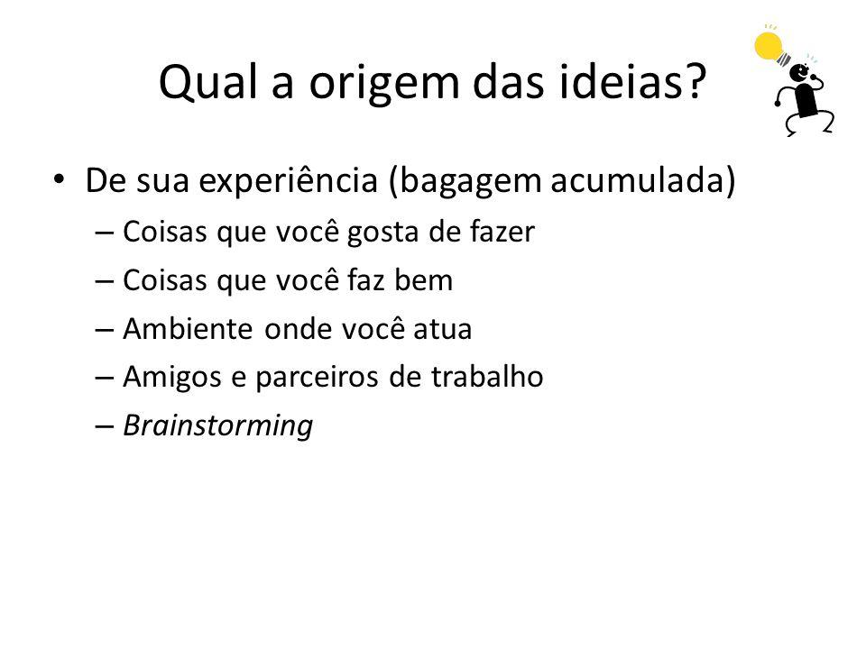 Qual a origem das ideias