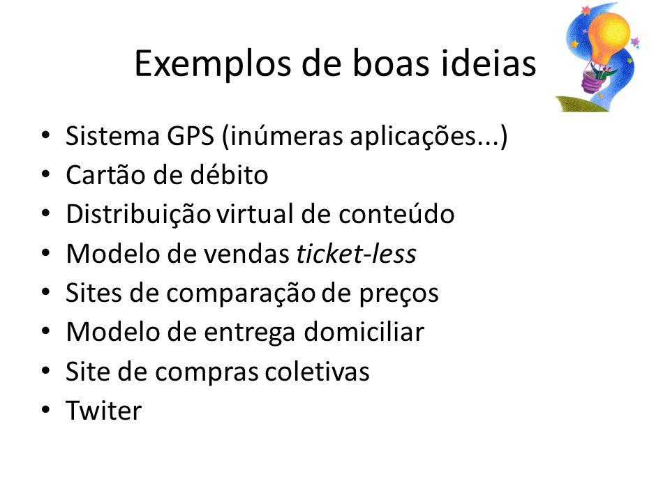 Exemplos de boas ideias