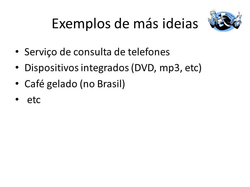 Exemplos de más ideias Serviço de consulta de telefones