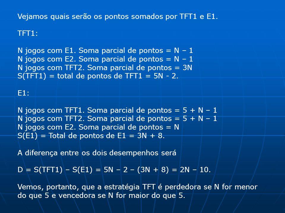 Vejamos quais serão os pontos somados por TFT1 e E1.