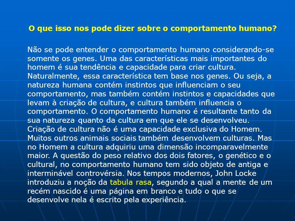 O que isso nos pode dizer sobre o comportamento humano