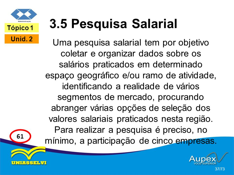 3.5 Pesquisa Salarial Tópico 1.