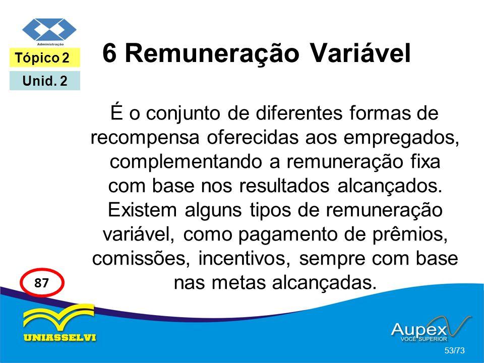 6 Remuneração Variável Tópico 2. Unid. 2.