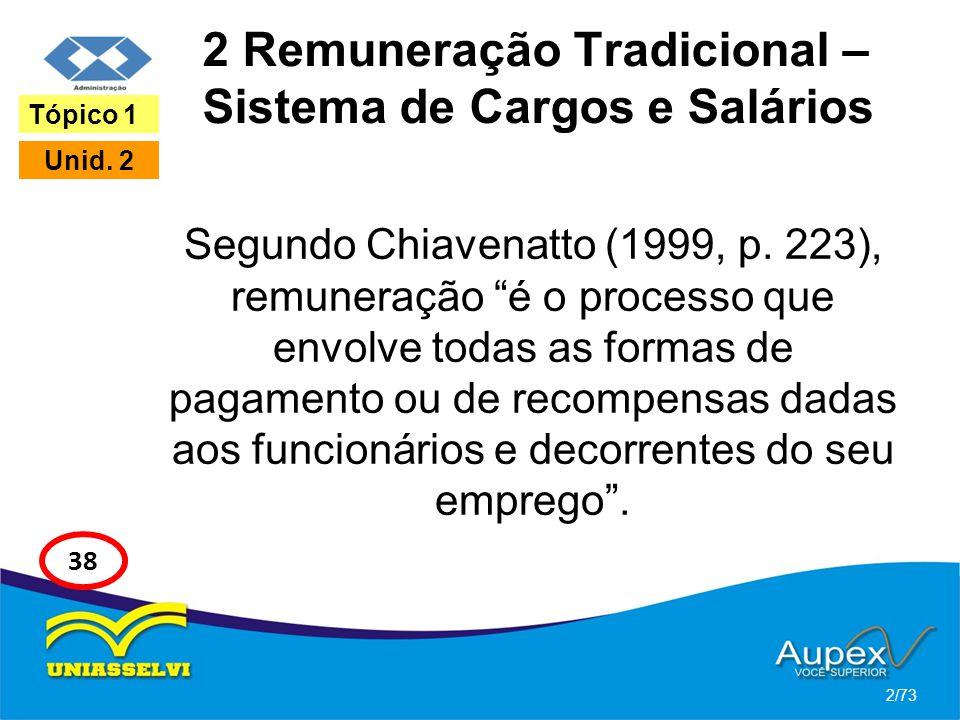 2 Remuneração Tradicional – Sistema de Cargos e Salários