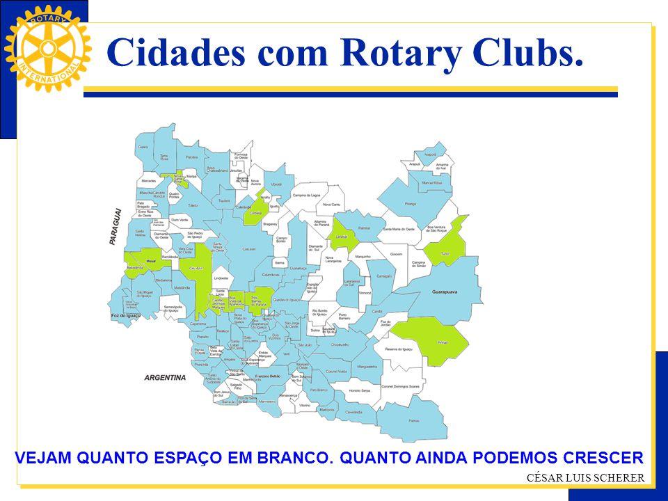 Cidades com Rotary Clubs.