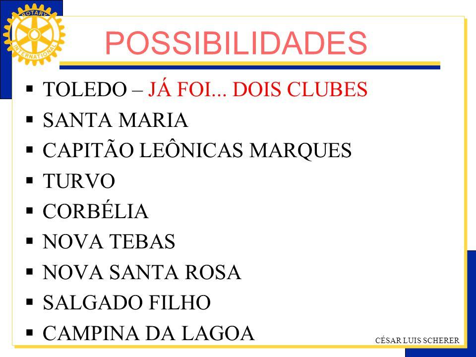 POSSIBILIDADES TOLEDO – JÁ FOI... DOIS CLUBES SANTA MARIA