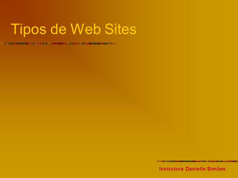 Tipos de Web Sites Instrutora Danielle Simões