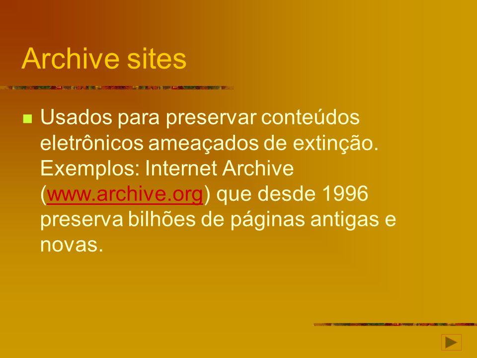 Archive sites