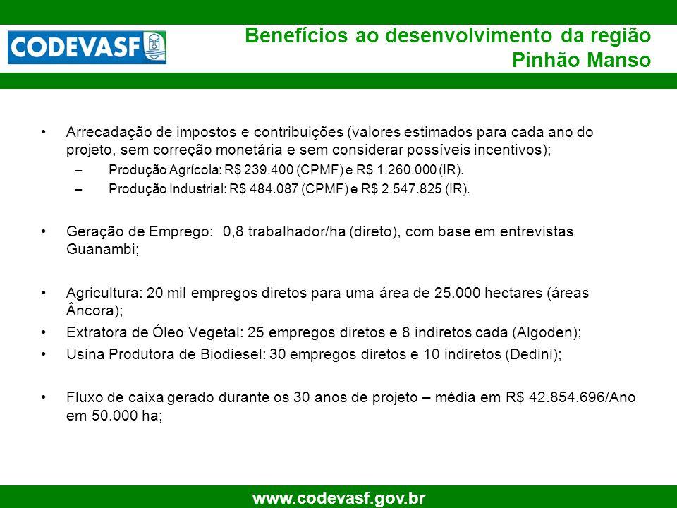 Benefícios ao desenvolvimento da região Pinhão Manso