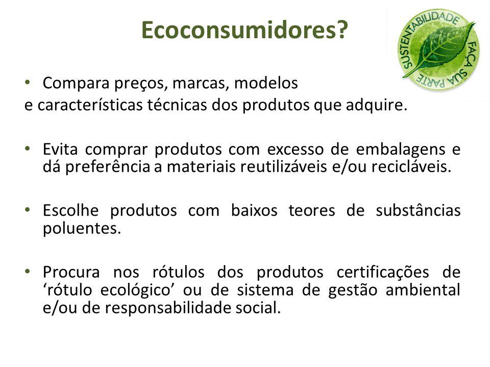 Ecoconsumidores Compara preços, marcas, modelos