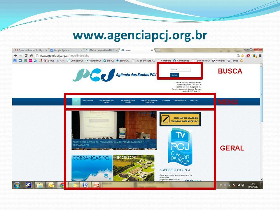 www.agenciapcj.org.br BUSCA MENU GERAL