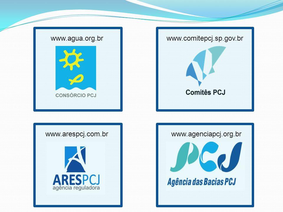 www.agua.org.br www.comitepcj.sp.gov.br www.arespcj.com.br www.agenciapcj.org.br