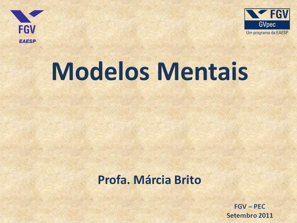 Modelos Mentais Profa. Márcia Brito FGV – PEC Setembro 2011