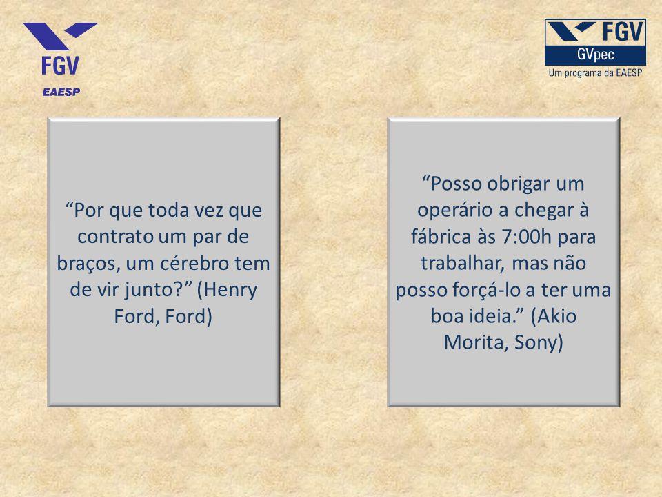 Por que toda vez que contrato um par de braços, um cérebro tem de vir junto (Henry Ford, Ford)