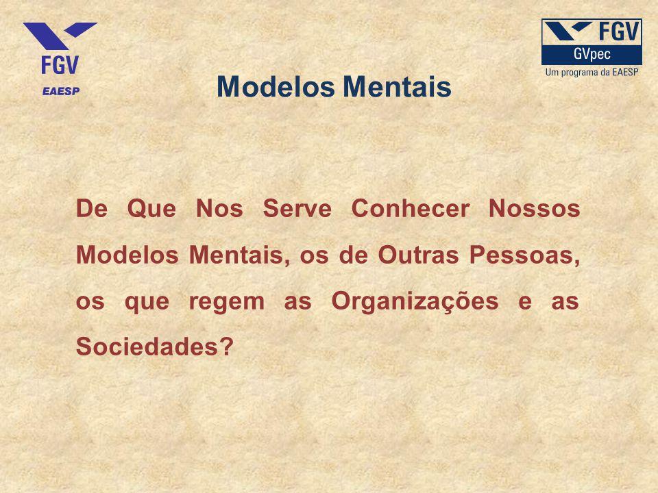 Modelos Mentais De Que Nos Serve Conhecer Nossos Modelos Mentais, os de Outras Pessoas, os que regem as Organizações e as Sociedades