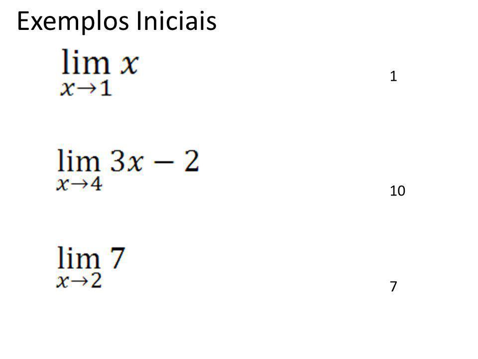 Exemplos Iniciais 1 10 7
