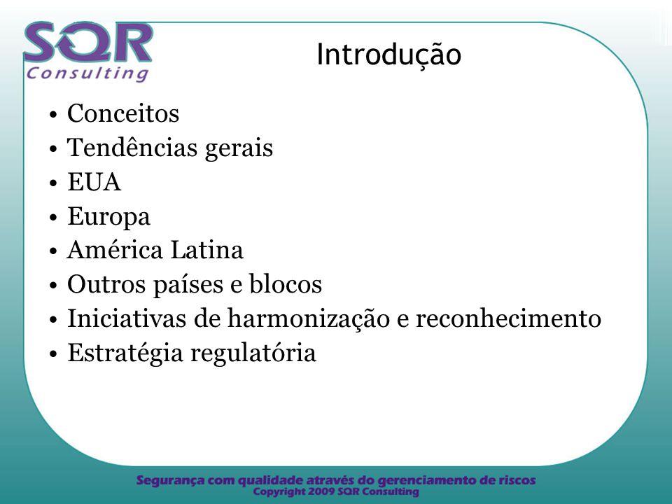 Introdução Conceitos Tendências gerais EUA Europa América Latina