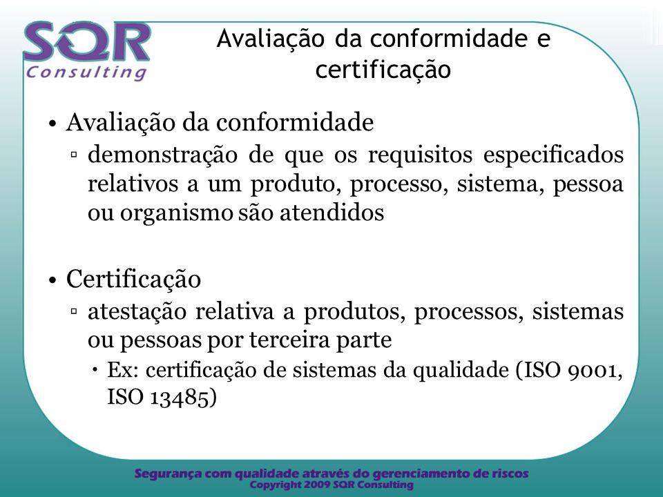 Avaliação da conformidade e certificação