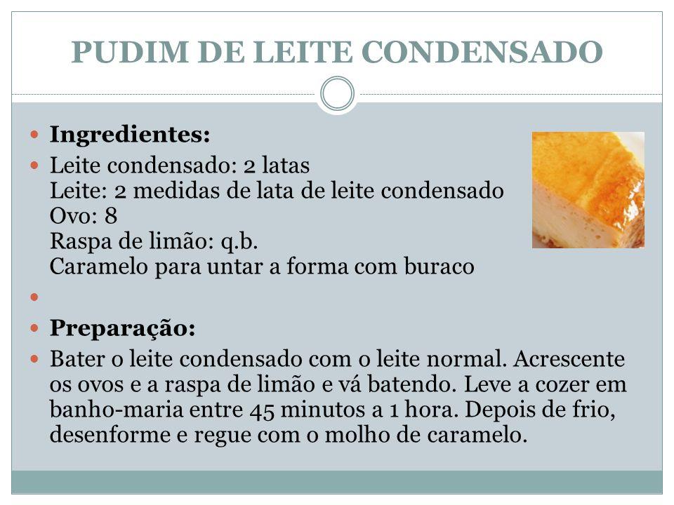 PUDIM DE LEITE CONDENSADO