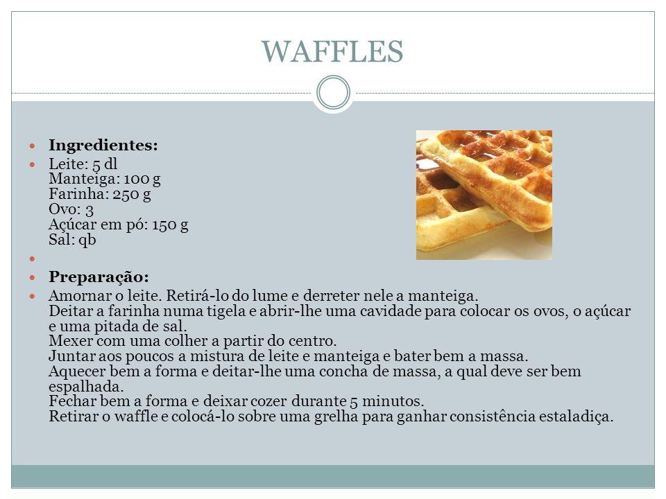 WAFFLES Ingredientes: