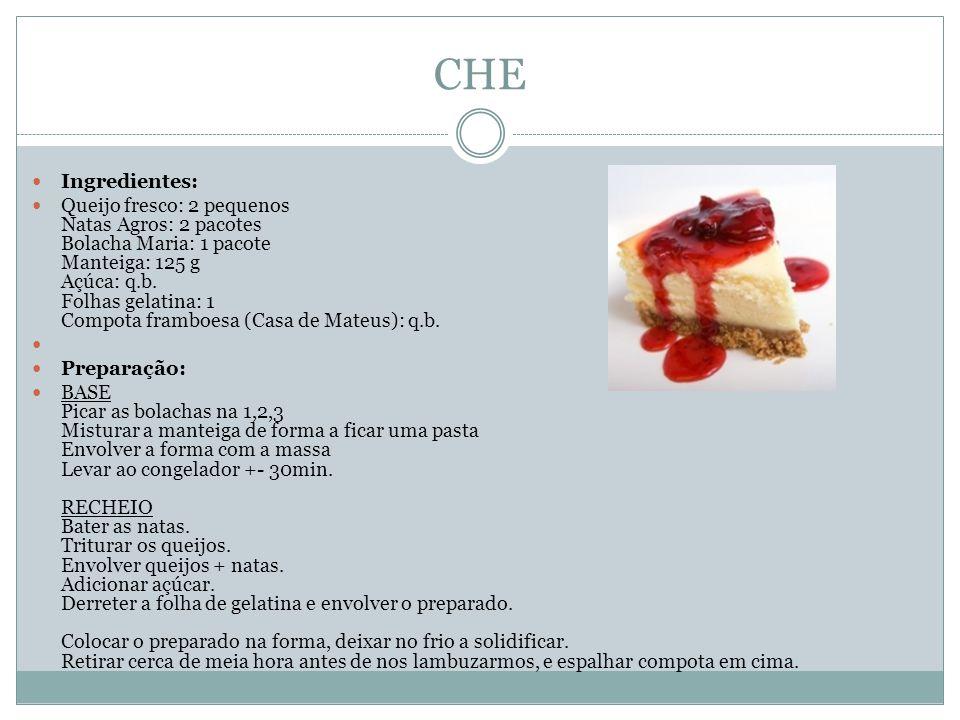 CHE Ingredientes: