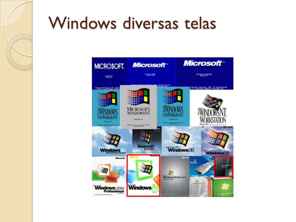 Windows diversas telas