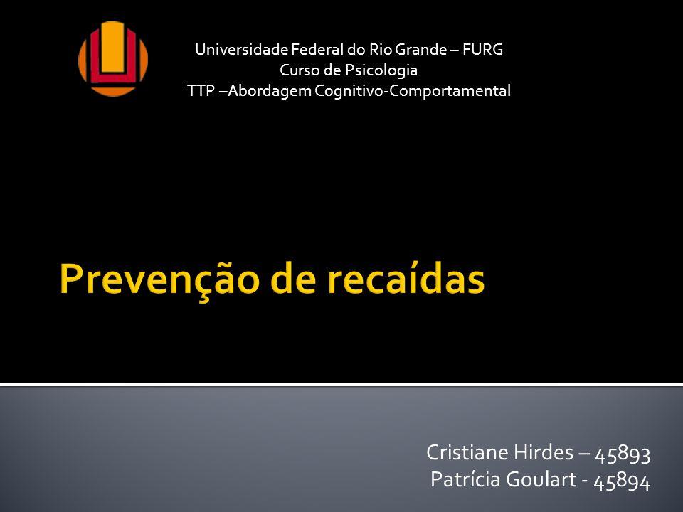 Cristiane Hirdes – 45893 Patrícia Goulart - 45894