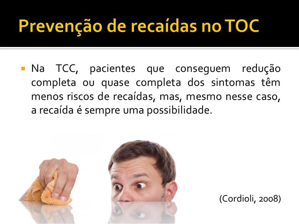 Prevenção de recaídas no TOC