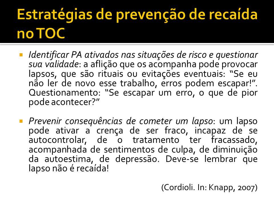Estratégias de prevenção de recaída no TOC