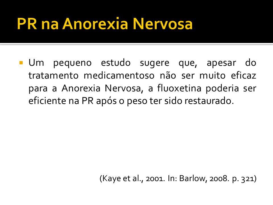 PR na Anorexia Nervosa