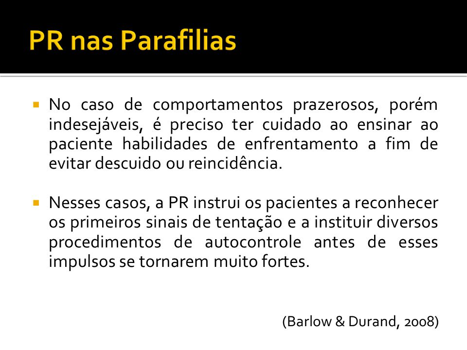 PR nas Parafilias