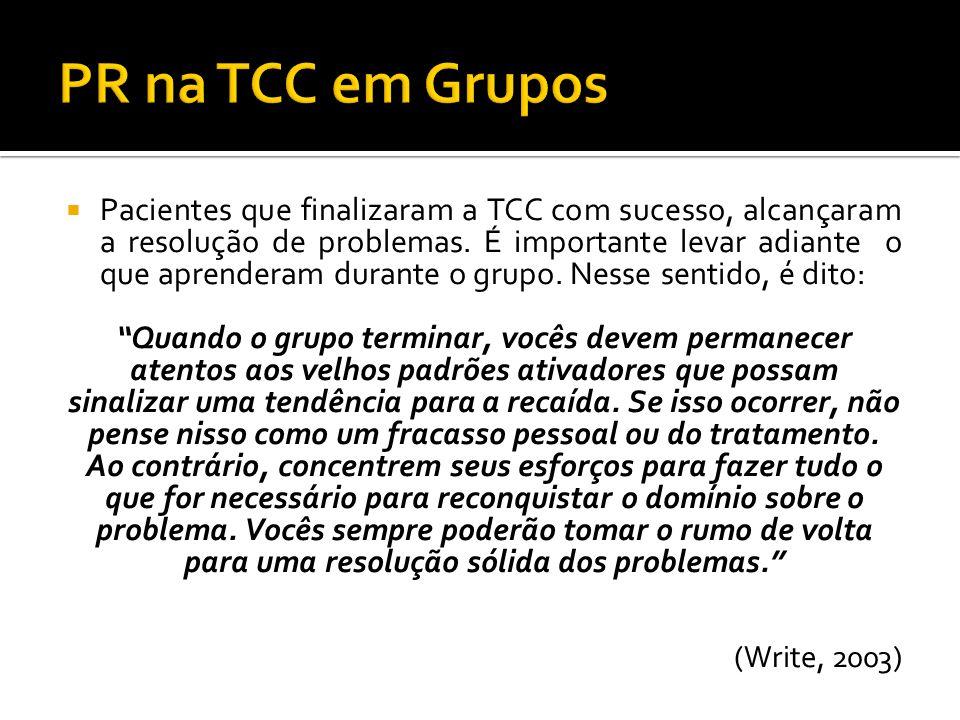 PR na TCC em Grupos