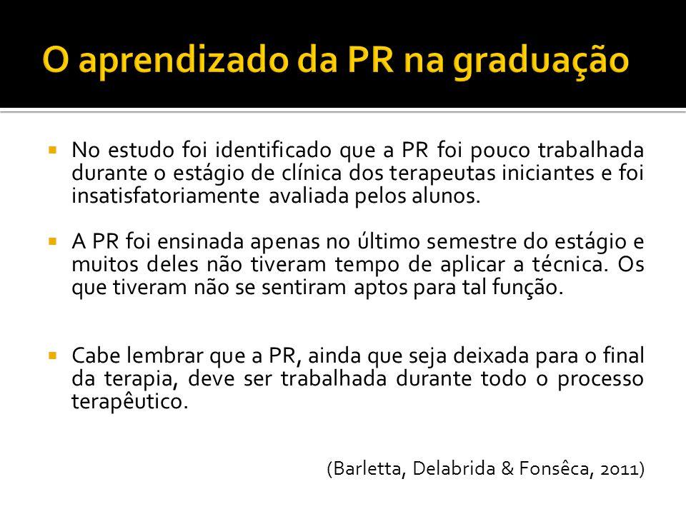 O aprendizado da PR na graduação