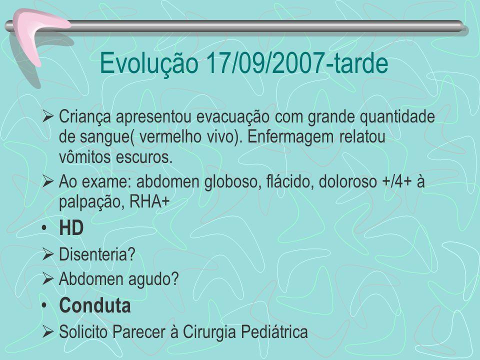 Evolução 17/09/2007-tarde HD Conduta
