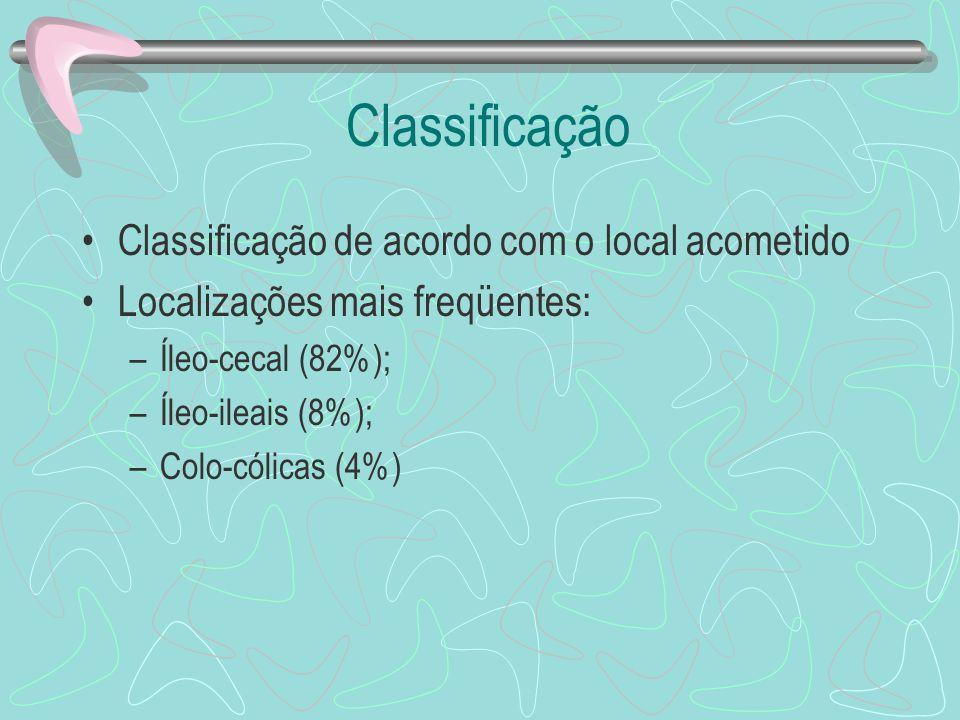 Classificação Classificação de acordo com o local acometido