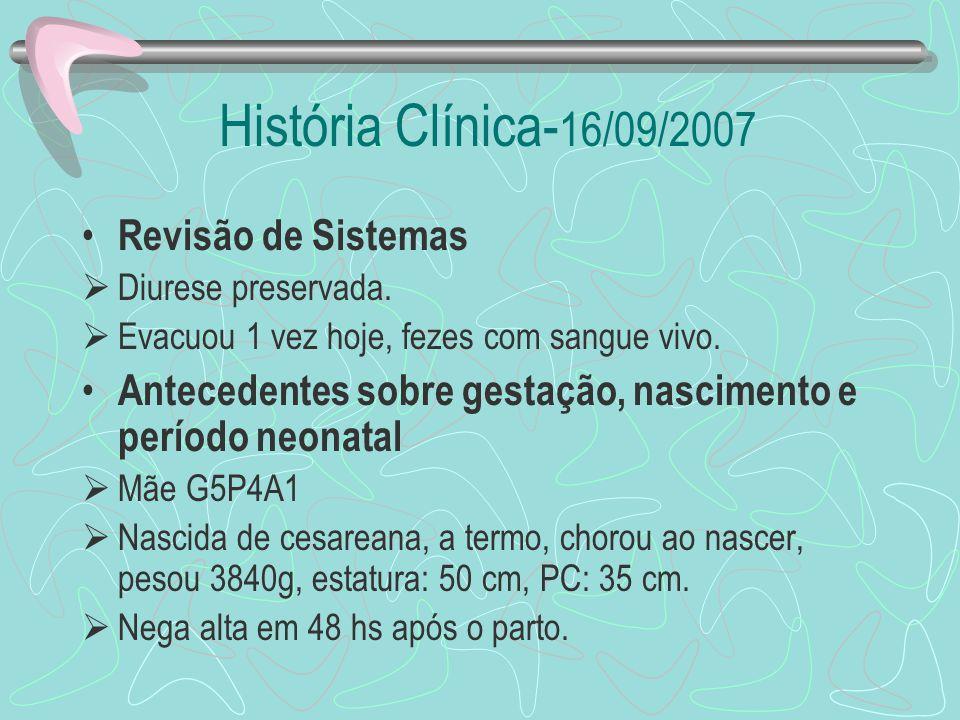 História Clínica-16/09/2007 Revisão de Sistemas